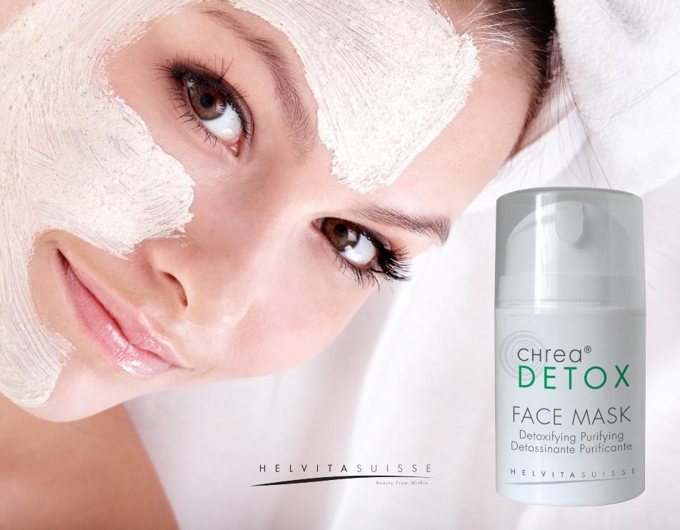 Maschera viso detossinante purificante